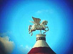 Mythical (Toshi-PotoNo!) Tags: childhood carousel fantasy pointandshoot tagaytay wingedhorse flyincircles