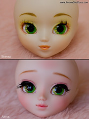 Before & After - Pullip Paja Reg (-Poison Girl-) Tags: new pink cute girl closeup mouth hair eyes doll soft closed long dolls lashes eyelashes sweet bald makeup before lips planning jp wig blonde groove after pullip february poison custom alana pullips paja febrero lids jun poisongirl akemi customs eyelids 220 regeneration 223 2014 faceup eyechips junplanning homura rewigged lightshop pullipcustom poisongirlsdolls