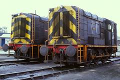 Perkin, Solvay, I.C.I. Northwich 1/9/1982 (Glevumblues) Tags: diesel trains locomotive railways ici northwich solvay shunter perkin ee1904 ee1902