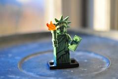 Lady Liberty (julochka) Tags: lego collectible series2 minifigures series3 series5 series6 obsessmuch