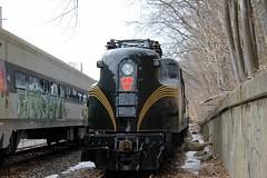 PRR 4877 GG1 (Conrail1978) Tags: new railroad green pennsylvania central nj brunswick jersey historical society boonton gg1 prr tuscan 4877