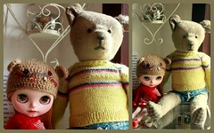 Two bears (*blythe-berlin*) Tags: blythe altstadt minden scc jette rbl puppenmuseumscaf bearhelmet puppenmode strawberriesncreamycute brchenmtze dollilyfashionfordolls dollilycustom dollmuseumcaf