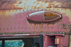 Side Light (Paul R Lamb) Tags: light red ontario canada bus junk rust guelph scrapyard scrap signal mcleans