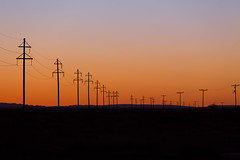 Sunset outside of Marfa (kellyandjaffe) Tags: sunset texas unitedstates powerlines westtexas marfa farwesttexas