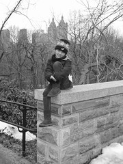 Beemyr in Central Park, New York (Beauty Playin 'Eh) Tags: nyc newyorkcity winter vacation holiday snow cold centralpark manhattan midtown uptown turtlepond belvederecastle blackandwhitephotography centralparksnow blackandwhitepicture girlsinnewyork springbreak2014 springbreak20141