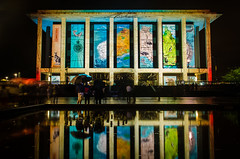 National Library of Australia #2 (nikabuz) Tags: longexposure nightphotography australia canberra act nationallibraryofaustralia lightprojections enlightenfestival