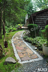 WM Mark Jurus 13, flat work, walkway, pathway irregular flagging, dry laid stone construction, copyright 2014