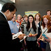 Neil deGrasse Tyson signs autographs during the reception following his presentation at the Hunt Library.