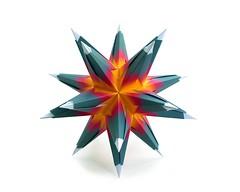 Bascetta Star (Nata_Dubna) Tags: paper origami modular unit modularorigami kusudama кусудама bascetta