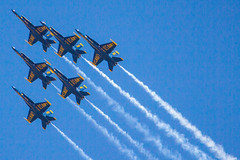 U.S. Navy Blue Angels (stroup82#) Tags: show summer sky cloud sun canada sunshine weather fan us aircraft aviation military jets airplanes blues bluesky airshow rhodeisland planes boeing f18 blueangels usnavy aviator pilot clearsky snowbirds quonset militaryaviation avionics avenger fa18