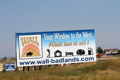 Wall Drug's advertisement billboards (saish746) Tags: road park camping wild camp people blackandwhite sculpture dog white mountain black monochrome sign yellow wall night river fossil star volcano drive george washington store buffalo memorial long exposure outdoor thomas south great pass trails surreal goat motel abraham tent roosevelt hills rushmore advertisement formation mount soil national cedar lincoln drug jefferson keystone badlands prairie brule plains bison eruptions prehistoric volcanic groupshot signboard dakota mounds theodore ecosystem the borglum paleosols gutzon mixedgrass