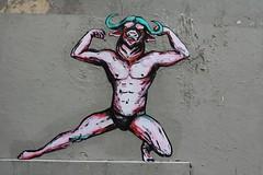 Suriani_3743 rue Jean Baptiste Dumay Paris 20 (meuh1246) Tags: streetart paris belleville minotaure ruejeanbaptistedumay paris20 suriani