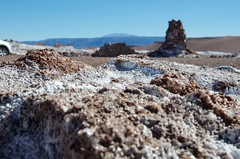 Salt flat close up