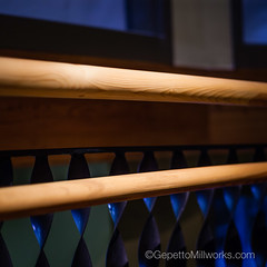 Spiral Staircase Built in Solid Wood | Richmond VA Millwork (gepettomillworks) Tags: bannister railings renovation spiralstaircase staircase warehouse