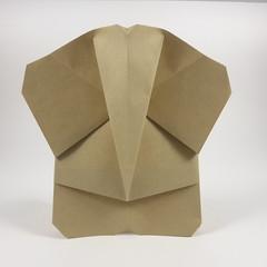 Simple Elephant (Michał Kosmulski) Tags: origami elephant elefant michałkosmulski ekoluxpaper brown beige