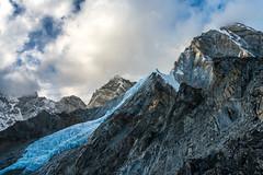 Ice Blue Changri Glacier (www.mikereidphotography.com) Tags: nepal himalayas everest glacier pumori mountain trekking trek landscape snow ice sky