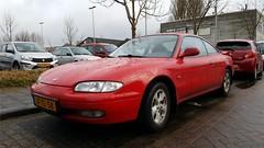 Mazda MX-6 2.5i V6 (sjoerd.wijsman) Tags: zuidholland holanda olanda holland niederlande nederland thenetherlands netherlands paysbas carspot carspotting cars car voiture fahrzeug auto autos redcars red rood rot rouge coupé coupe mazda mx6 mazdamx6 jftl58 sidecode5 onk pijnacker 01032017