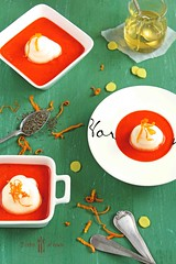 roasted pepper soup (norijuranyi) Tags: red summer cold pepper soup cool spicy starters redpepper