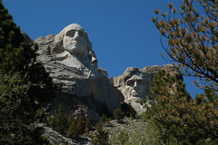 Washington and Lincoln (brittreints) Tags: southdakota mountrushmore
