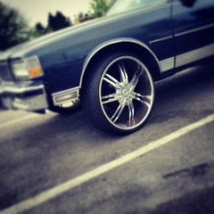ridin' dirty (kurt schlosser) Tags: seattle wheels chrome ballard rims iphone5