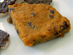 Maple Pumpkin Bars (jazzijava) Tags: school food cookies pumpkin dessert baking maple sweet chocolate raisins sugar snack vegetarian montessori maplesyrup oats baked bran mlca minichocolate vegetarianbaking schoolsnack montessoriajax montessorilearningcentreofajax pumpkinmaplebars