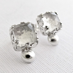 Custom Bridal Earrings (Nina Gibson) Tags: handmade jewelry earrings bridal sterlingsilver quartzcrystal