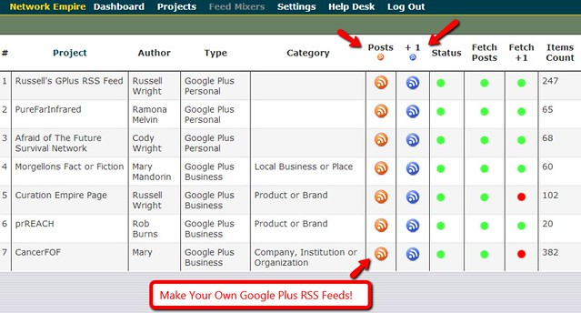 Google Plus RSS Feed Maker Software