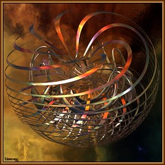 unraveling sphere (bloorose-thanks 4 all the faves!!) Tags: abstract art digital 3d render fractal incendia