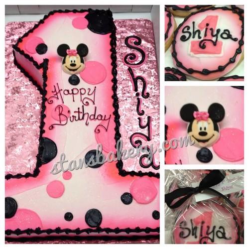 Minnie Mouse First Birthday Smash Cake Minnie Mouse First Birthday