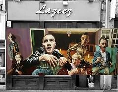 Trainspotting Shopfront Hoarding - A Success for Ayr Tourism Footfall? (Ayrshire Elite Business Circle) Tags: hairy circle disco banjo cash business elite wealthy ayr better trainspotting handshakes ayrshire strivers richer improvingoneslot