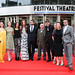 Amy Manson, Freya Mavor, Kate Dickie, Karen Gillan, Stanley Weber, Gary Lewis, Niall Fulton, Wendy Griffin, Claire Mundell and John McKay arriving for the World Premiere of Not Another Happy Ending at Festival Theatre