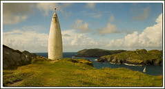 The Beacon, Baltimore, West Cork (HEFFO1) Tags: ireland sea water canon harbour baltimore beacon 30d westcork roundtower