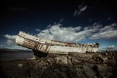 Svanurinn (SteinaMatt) Tags: old blue sea west matt boat iceland ship shore skys sland steinunn steina vesturland matthasdttir btursvanursvanurinn