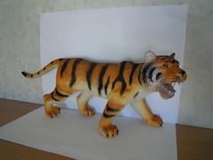 Rubber Tiger (ItalianToys) Tags: animal animals toy toys zoo tiger rubber felino felini tigre animali animale pvc giocattoli jungla plastica savana giocattolo giungla morbida