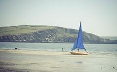 Care free... (Jess Feldon) Tags: summer beach coast boat sand devon bigbury