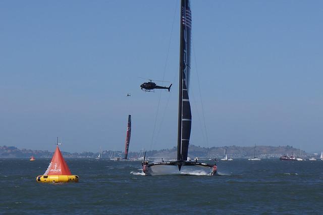 San Francisco / Americas Cup - Arrivée de la 18ème course