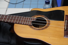 Guitars, Ukuleles, etc. [Necked Box Lutes played with Hands] 121: Tres (of Yulex Ricaño) (KM's Live Music shots) Tags: guitar cuba tres musicalinstrument chordophone guy'shospital hornbostelsachs yulexricaño cubaluz