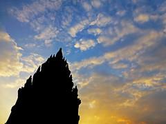 Prambanan at Sunset, Indonesia (jonhuskisson) Tags: travel sunset silhouette sunrise indonesia temple worship asia seasia southeastasia day backpacking hindu hinduism prambanan placeofworship pwpartlycloudy