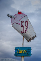 Fine Fifties Food (Cardwell Photo LLC | Thanks for 1.5 Million Views!) Tags: sky sign architecture clouds canon texas streetphotography houston diner retro signage