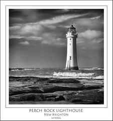 Perch Rock Lighthouse (Mike Parr) Tags: blackandwhite lighthouse water architecture river landscape mono blackwhite wirral newbrighton merseyside landscapephotography rivermersey wirralpeninsula newbrightonlighthouse mikeparr perchrock perchrocklighthouse flickriver newbrightonpromenade opencultureliverpool mikeparrphotography fujixpro1
