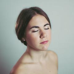Sister II (Konsta Linkola) Tags: light portrait girl make up canon studio nude skin lightning retouch
