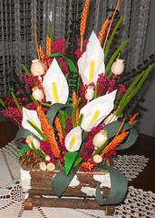 composizione floreale invernale