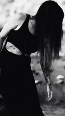Ashley (Joseph Maddon) Tags: arizona portrait bw girl monochrome tattoo contrast dark outdoors model modeling smoke grain az tattoos smoking bature portraitphotography uploaded:by=flickrmobile flickriosapp:filter=nofilter