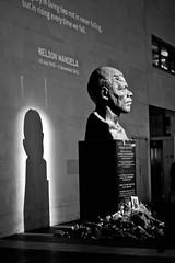 Flowers for Mandela, South Bank (brazzer) Tags: blackandwhite london statue southbank mandela