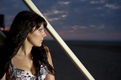 DSC_2143 (lensinurface) Tags: light sunset sky beach girl stairs model sand nikon hut speedlight skyporn d3s