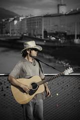 lone cowboy (supslice) Tags: bridge salzburg cowboy guitar singer songwriter