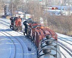 New leader (Michael Berry Railfan) Tags: winter snow cn train quebec montreal ge generalelectric canadiannational gmd dash944cw dash9 gevo sd70m2 es44ac ac4400cw montrealwest oiltrain cp9500 crudeoiltrain ns8034 cn8853 montrealsub cn710 bnsf4794 cnu710