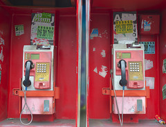 They still exist? (Andrew Tan 2011) Tags: red two booth advertising sticker bills display gap dial cable monochromatic communication payphone tm malaysia button service kl keypad receiver bangsar convenience telecom telecommunication identical coinslot publicphones telekommalaysia fixedline almostonecolour