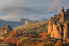 The Belogradchik rocks(Bulgaria) (evdokimov_emo) Tags: travel autumn trees light orange sun sunlight mist mountain painterly mountains colour green fall tourism nature colors leaves sunshine weather yellow rock misty stone forest trekking poster landscape haze rocks warm day colours shadows view time background space postcard air shapes rocky atmosphere sunny tourist hills erosion formation climbing mountaineering weathered sight colourful geology climber shape scape distance depth timeless formations palette sfumato mountaineer distant pictorial disappearing hil evdokimov yahoo:yourpictures=weather