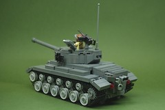 M26 Pershing heavy tank (4) (Dunechaser) Tags: usa army tank unitedstates lego military worldwarii armor ww2 pershing worldwar2 m26 brickarms brickmania vision:outdoor=0862